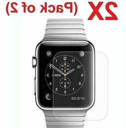 2-PACK Tempered Glass Screen Protector For Apple Watch 38mm/