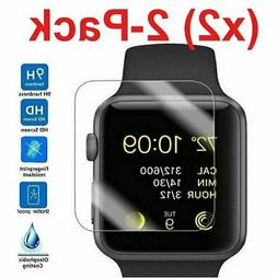 2 PACK Tempered Glass Screen Protector For Apple Watch Serie