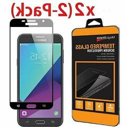 2 Pack Full Cover Tempered Glass Screen Protector For Galaxy