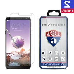 GLASAVE Tempered Glass Screen Protector For 2018 LG Stylo 4