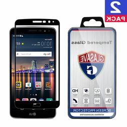GLASAVE FULL COVER Tempered Glass Screen Protector For LG S