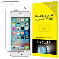 JETech 2-Pack Screen Protector for Apple iPhone SE 5s 5c 5 T