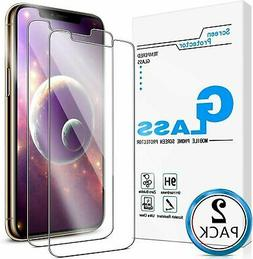 2-Pack Tempered Glass Screen Protector for iPhone 7 8 Plus X