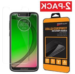 2-Pack Tempered Glass Screen Protector For Motorola Moto G7