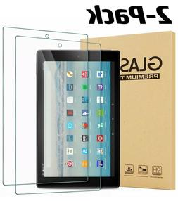 2 Pack Tempered Glass Screen Protector for Amazon Fire HD 10