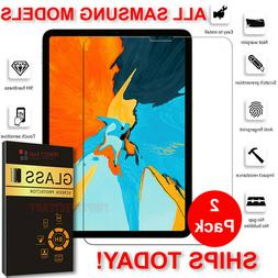 2PCS Tempered GLASS Screen Protector For Samsung Galaxy Tab