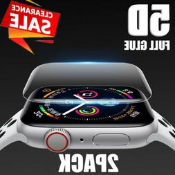 2x 5D Cover Screen Protector Accessories For iWatch 40/44MM