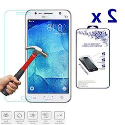 2x For Samsung Galaxy J7  Premium Tempered Glass Screen Prot