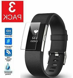 3-Pack Screen Protector Full Coverage Clear Film For Fitbit