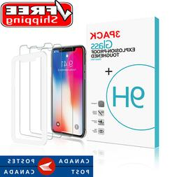 "3-Pack 6.1"" iPhone 11 & XR Tempered Glass Screen Protector w"