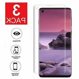 3 Pack FULL COVER Screen Protector For Samsung Galaxy S10 Pl