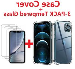 3-Pack For iPhone 12 Pro 11 7 8 Plus X Xs Max XR Tempered GL