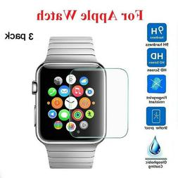 3-PACK Tempered Glass Screen Protector For Apple Watch  38mm
