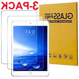 """3 Pack TEMPERED GLASS Screen Protector for Apple iPad 9.7"""" 2"""