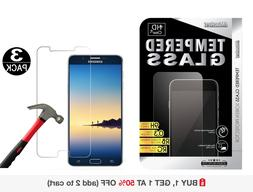 3-Pack Tempered Glass Screen Protector for Samsung Galaxy No