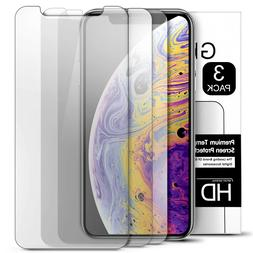 3 Pack Tempered Glass Screen Protector for iPhone 11 Pro / X