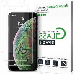 3 Packs Iphone X Screen Protector Tempered Glass Maxboost Ac