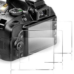 QIBOX Screen Protector Compatible Nikon D3400 D3300 D3200 D3
