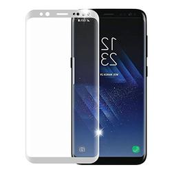 9H 3D Full Curved Screen S8/S9 Galaxy S8 Plus Glass Silver.