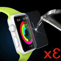 3Pack Tempered Glass Screen Protector For Apple Watch Series