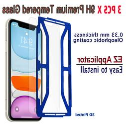 3pcs x Tempered Glass Screen protector with EZ Applicator fo