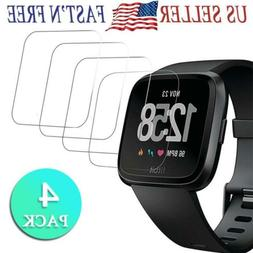 4PACKS 9HD Tempered Glass Screen Protector Cover for Fitbit
