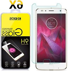 Khaos For Motorola Moto Z2 Force HD Clear Tempered Glass Sc