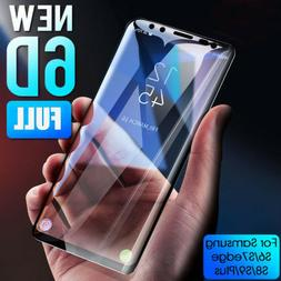 6D Tempered Glass Screen Protector Guard For Samsung Galaxy
