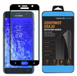 For Samsung Galaxy J7  Full Cover Tempered Glass Screen Prot