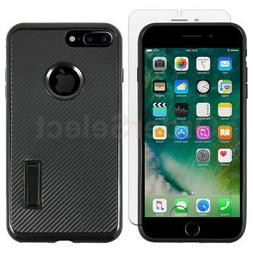 For iPhone 7 Plus/8 Plus Case Kickstand Shockproof Cover+LCD