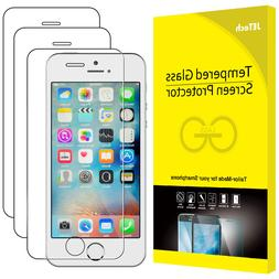 JETech Screen Protector for Apple iPhone SE 5s 5c 5 Tempered