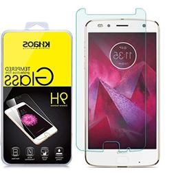 Khaos For Motorola Moto Z2 Force HD Clear Tempered Glass Scr
