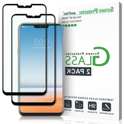 LG G7 ThinQ amFilm Full Cover Tempered Glass Screen Protecto