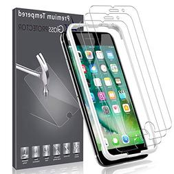 LK  Screen Protector for iPhone 7,  DoubleDefence Technology