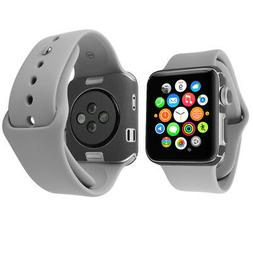 Skinomi Brushed Steel & Screen Protector for Apple Watch Ser