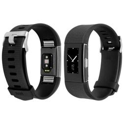 Skinomi Brushed Steel Skin+Clear Screen Protector for Fitbit