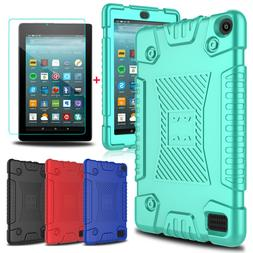 For Amazon Kindle Fire 7/HD 8 2017 Soft Silicone Tablet Case