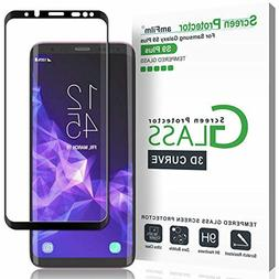 amFilm Glass Screen Protector for Samsung Galaxy S9 Plus, 3D