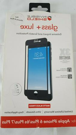 NEW!!! Zagg Invisible Shield Glass + Luxe 3X for IPhone 7+ P