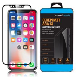 For Apple iPhone X XS Max XR Full Coverage Tempered Glass Sc