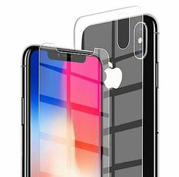 For Apple iPhone XS Max XR X Front and Back 9H Tempered Glas