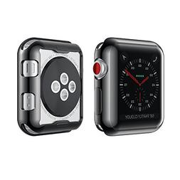 Smiling Apple Watch 3 Case Buit in TPU Screen Protector All-