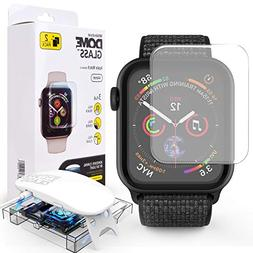 Apple Watch 44mm Screen Protector,  Liquid Adhesive for Full