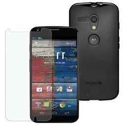 AMZER BLACK TPU PUDDING CASE COVER + SCREEN PROTECTOR FOR MO