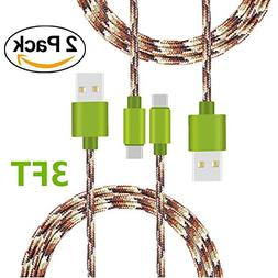 Type C Cable, KAMII Braided USB C to USB A Braided Sync & C