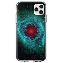 Clear Case for iPhone  Blue Teal Black Helix Nebula