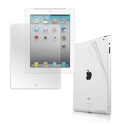 HDE® Clear Screen Protector & Back Protector Skins for iPad