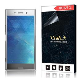 J&D Compatible for 2-Pack Xperia XZ Premium Screen Protector