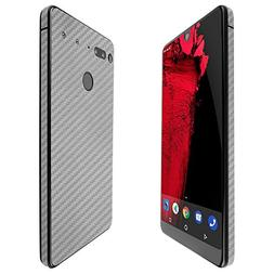 Essential Phone Screen Protector + Silver Carbon Fiber Full