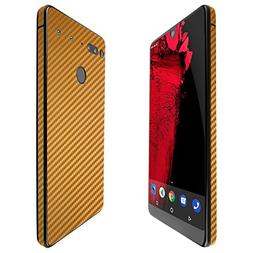 Essential Phone Screen Protector + Gold Carbon Fiber Full Bo